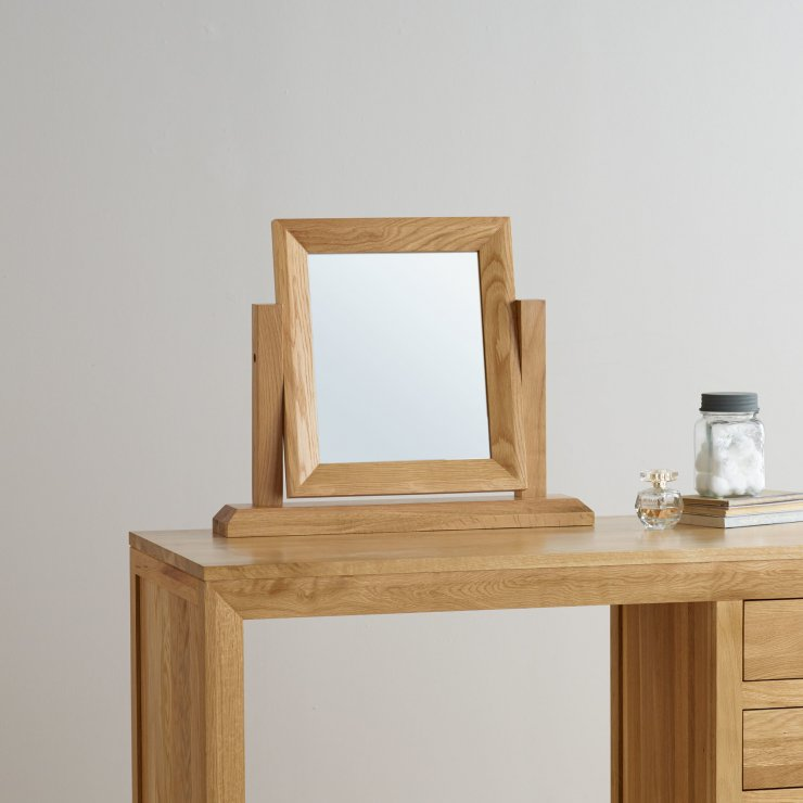 Bevel Natural Solid Oak Dressing Table Mirror