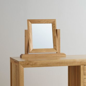 Bevel Natural Solid Oak Dressing Table Mirror