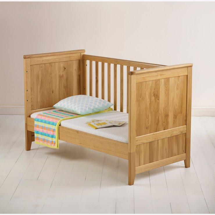 Bevel Natural Solid Oak Nursery Room Set