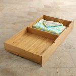 Bevel Natural Solid Oak Under Cot Storage Drawer - Thumbnail 4