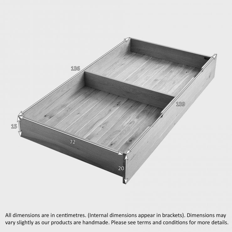 Bevel Natural Solid Oak Under Cot Storage Drawer