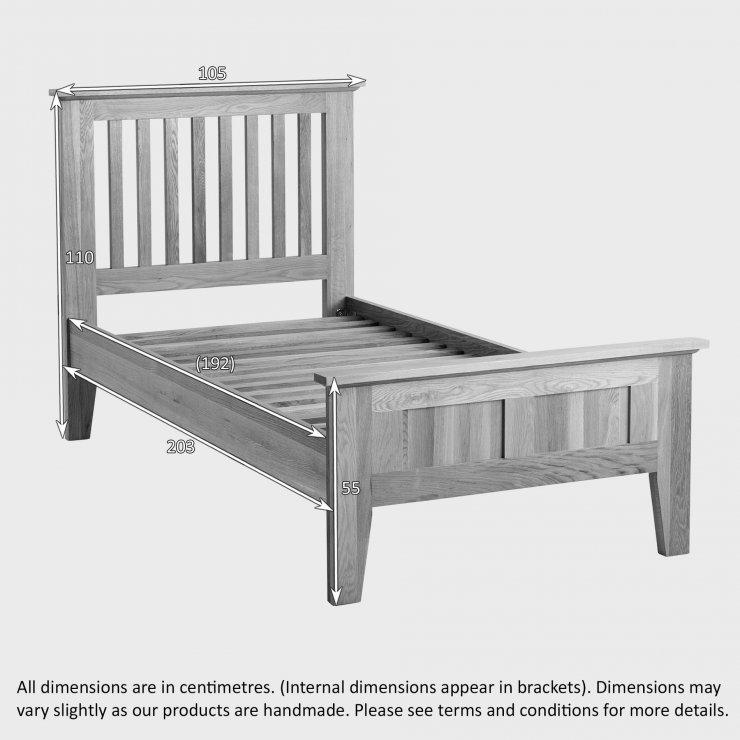 Bevel Solid Oak 3ft Single Bed