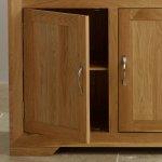 Bevel Natural Solid Oak Small Sideboard - Thumbnail 5