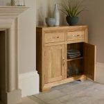 Bevel Natural Solid Oak Small Sideboard - Thumbnail 3