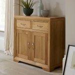 Bevel Natural Solid Oak Small Sideboard - Thumbnail 2