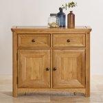 Wiltshire Natural Solid Oak Small Sideboard - Thumbnail 4