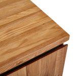 Boston Natural Solid Oak and Metal Small Sideboard - Thumbnail 4