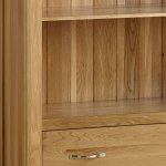 Bevel Natural Solid Oak Tall Bookcase - Thumbnail 4