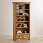Wiltshire Natural Solid Oak Tall Bookcase - Thumbnail 3