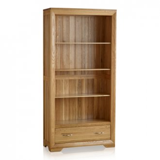 Bevel Natural Solid Oak Tall Bookcase