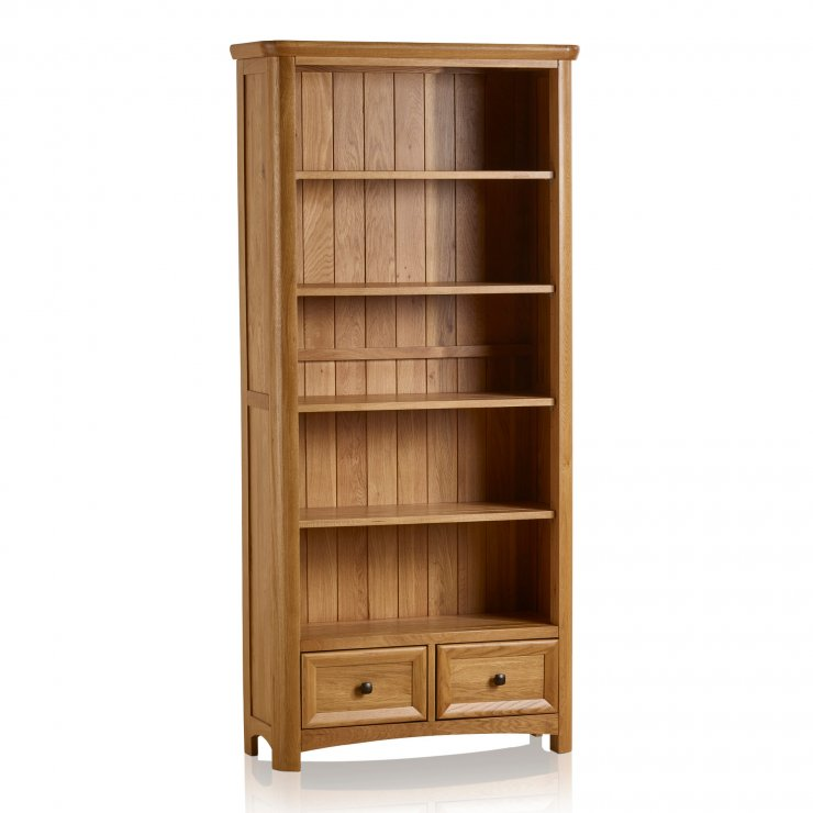 Wiltshire Natural Solid Oak Tall Bookcase - Image 5
