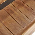 Boston Natural Solid Oak and Metal Tall Bookcase - Thumbnail 5