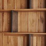 Boston Natural Solid Oak and Metal Tall Bookcase - Thumbnail 4