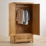 Wiltshire Natural Solid Oak Double Wardrobe - Thumbnail 3