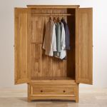 Wiltshire Natural Solid Oak Double Wardrobe - Thumbnail 4