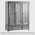 Wiltshire Natural Solid Oak Triple Wardrobe - Thumbnail 3