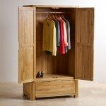 Romsey Natural Solid Oak Double Wardrobe - Thumbnail 2