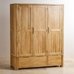 Romsey Natural Solid Oak Triple Wardrobe - Thumbnail 2