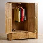 Romsey Natural Solid Oak Triple Wardrobe - Thumbnail 3