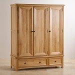 Wiltshire Natural Solid Oak Triple Wardrobe - Thumbnail 2