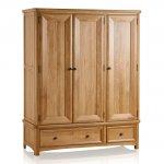 Wiltshire Natural Solid Oak Triple Wardrobe - Thumbnail 1