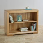 Bevel Natural Solid Oak Small Bookcase - Thumbnail 3