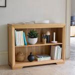 Bevel Natural Solid Oak Small Bookcase - Thumbnail 3