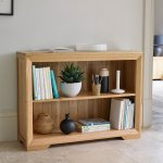 Bevel Natural Solid Oak Small Bookcase - Thumbnail 2