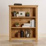 Wiltshire Natural Solid Oak Small Bookcase - Thumbnail 4