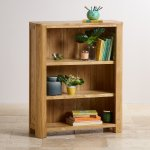 Romsey Natural Solid Oak Small Bookcase - Thumbnail 2