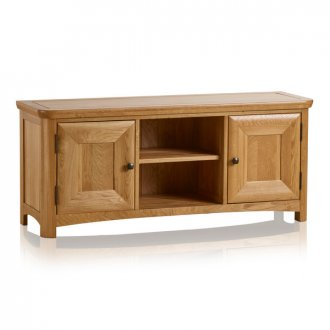 Wiltshire Natural Solid Oak Large TV Unit