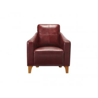 Blake Armchair - Burgundy Leather