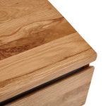 Boston Natural Solid Oak and Metal Console Table - Thumbnail 5