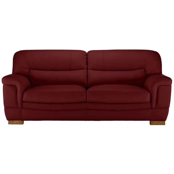 Brandon 3 Seater Sofa - Burgundy Leather
