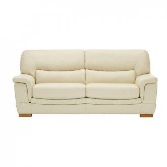 Brandon 3 Seater Sofa - Cream Leather