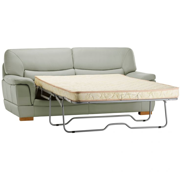 Brandon 3 Seater Sofa Bed with Deluxe Mattress - Grey Leather