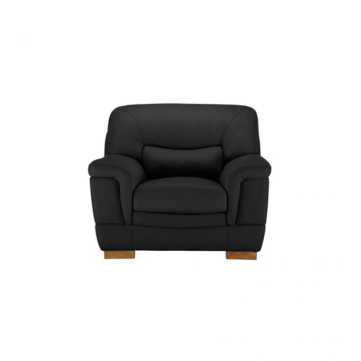 Brandon Armchair - Black Leather