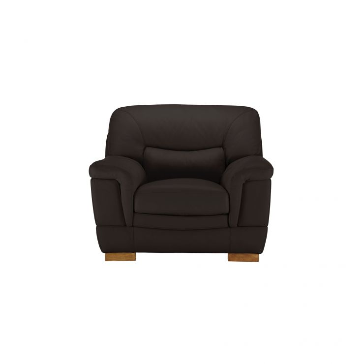 Brandon Armchair - Brown Leather