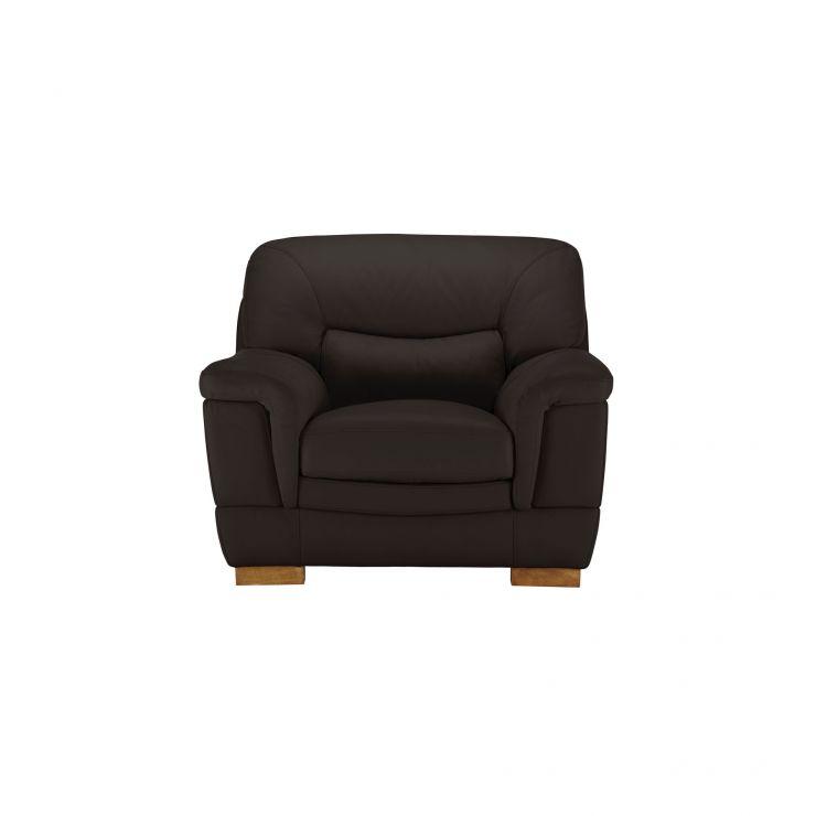 Brandon Armchair - Brown Leather - Image 1