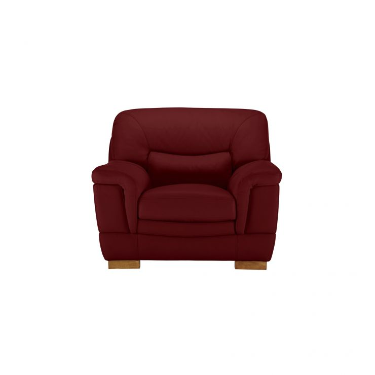 Brandon Armchair - Burgundy Leather