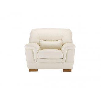 Brandon Armchair - Cream Leather