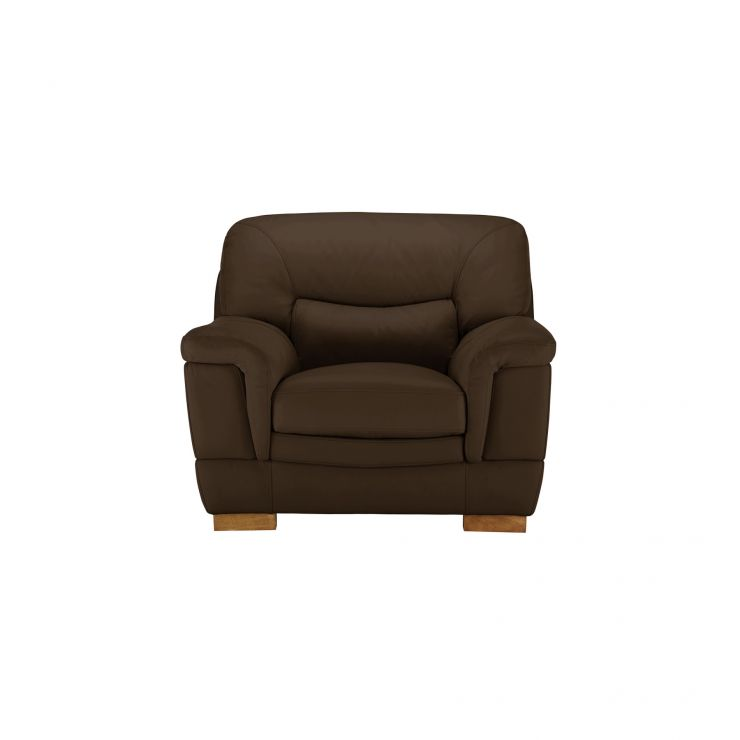 Brandon Armchair - Light Brown Leather