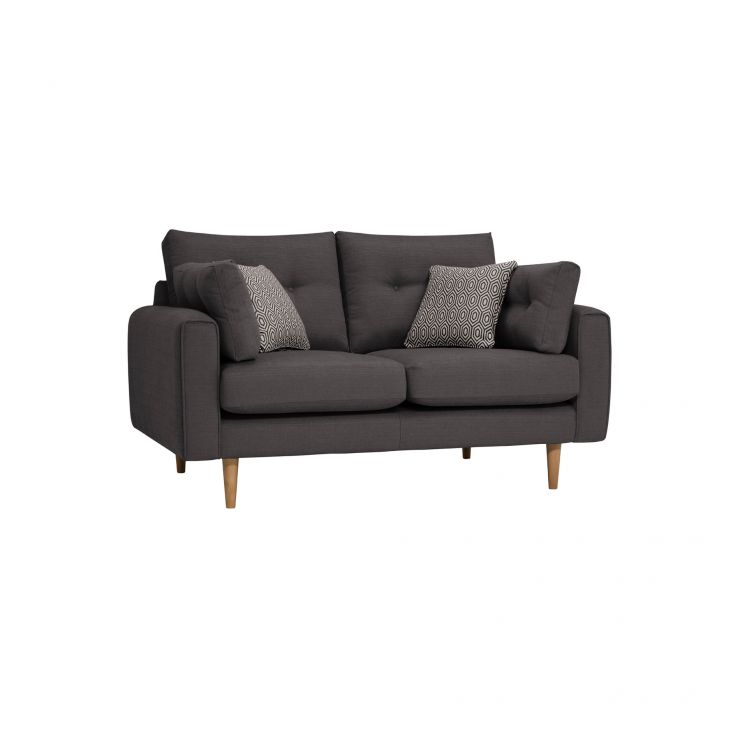 Brighton Charcoal 2 Seater Sofa with Charcoal Scatters