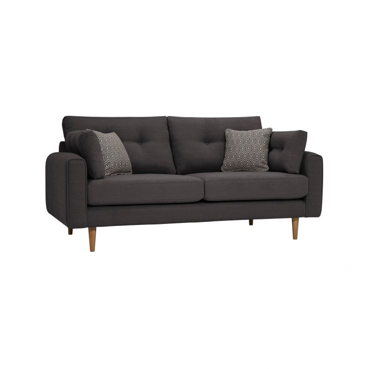 Brighton Charcoal 3 Seater Sofa with Charcoal Scatters