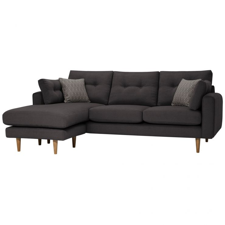 Brighton Charcoal Corner Sofa Right Hand Charcoal Scatters