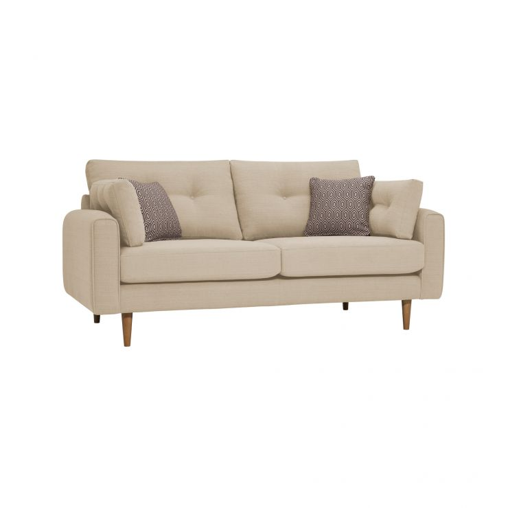 Brighton Parchment 3 Seater Sofa with Parchment Scatters