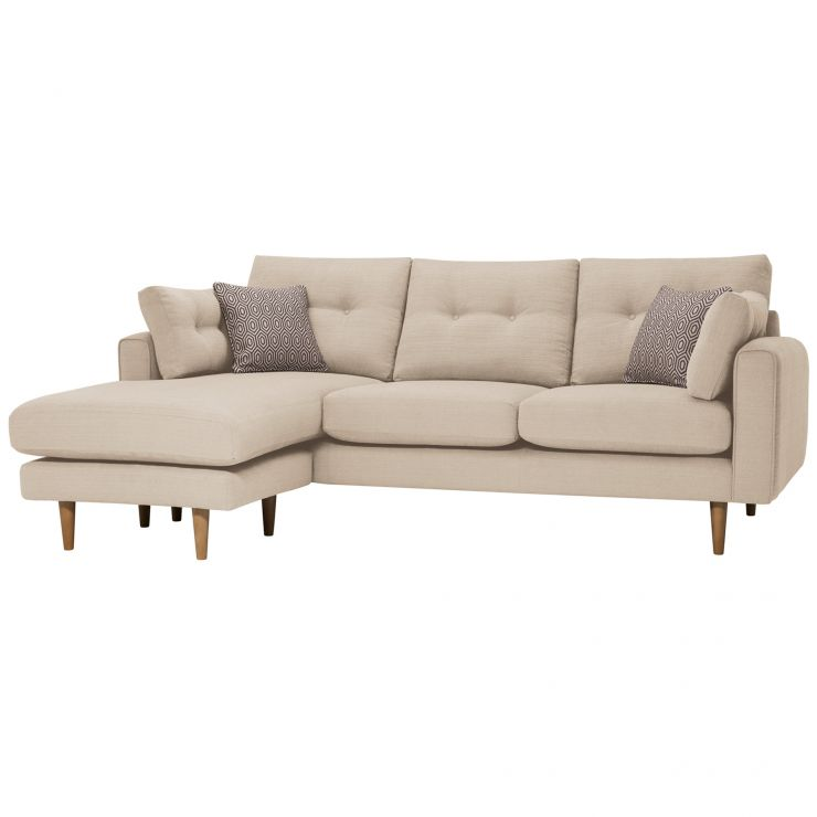Brighton Parchment Corner Sofa Right Hand with Parchment Scatters