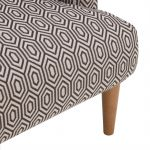 Brighton Patterned Charcoal Accent Chair - Thumbnail 7