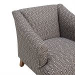 Brighton Patterned Charcoal Accent Chair - Thumbnail 6