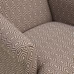 Brighton Patterned Parchment Accent Chair - Thumbnail 4